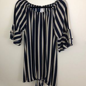 Now N Forever Stripped Tunic Large